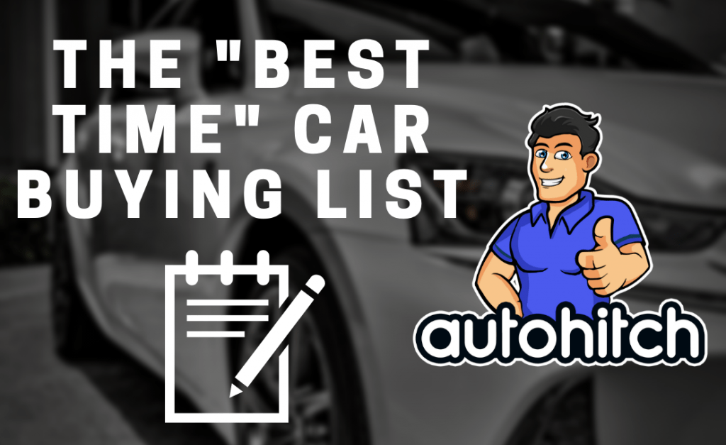 The Best Time Car Buying List